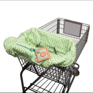 Shopping cart baby seat cover